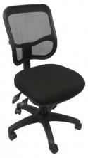 EM300 MB Ergo 3 Lever, Gas Lift, Back Angle, Seat Tilt. 110Kg. Black Mesh Back. Black Fabric Only