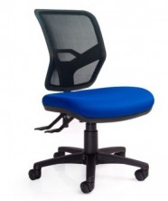 Rexa Mesh Back. Option Ergo 2 Or 3 Lever Action. 120Kg. Black Mesh Back. Fabric Seat Any Colour