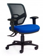 Rexa Mesh Back. Option Ergo 2 Or 3 Lever Action. Fabric Seat Any Colour. Adjust Arms Optional Extra
