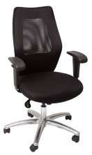 AM200 MB Exec. Infinite Tilt Lock. Arms. 120Kg. Black Mesh Back. Black Fabric Seat Only