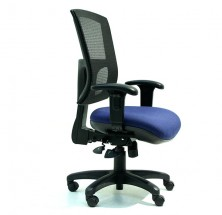 Wave Mesh Back. Heavy Duty With Arms. Large Seat. 135Kg. Fab Seat Any Colour. Black Base STD