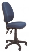 ECO70CH Ergo 3 Lever, Gas Lift, Back And Seat Angle Adjust. 110Kg. Black, Grey, Navy Fabric Only
