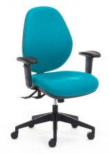 Atlas 160 HB With Arms. Ergo 3 Lever, Gas Lift, Back Angle, Seat Tilt Adjust. Fabric Any Colour