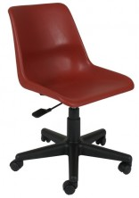 Schoolie Gas Lift Chair. Gas Lift, Swivel, Castors. 120Kg. 1 Year Warranty. Plastic Shell 7 Colours