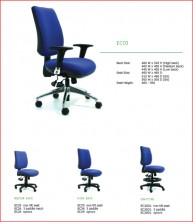 Ecco Ergonomic Chairs. Back Heights, Seat Widths, Ergo Actions. Heavy Duty Afrdi Tested 135Kg