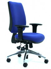 Ecco HB EC306A5. Adjustable Arms. Ergo 3 Lever, Gas Lift, Back Angle, Seat Tilt. Chrome Base Extra