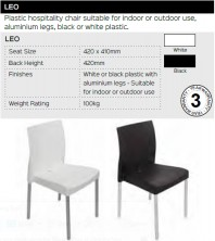 Leo Chair Range And Specifications