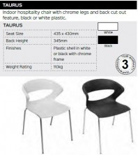 Taurus Chair Range And Specifications