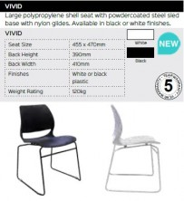Vivid Chair Range And Specifications