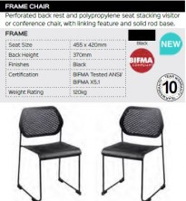 Frame Chair Range And Specifications