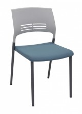 Aloha White Polyprop Back With Optional Blue Or Black Fabric Seat
