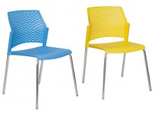 Rewind 4 Leg Chairs. Colours: Black, Anthracite, Grey, Taupe, White, Yellow, Dark Blue, Light Blue, Green, Red