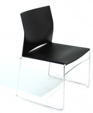 WEB Visitor Chair. Chrome Sled. Colours: Sand, Red, Black, White, Green, Blue