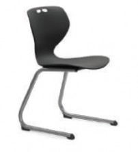 Mata Cantilever Visitor Size 6 Chair. Grey Poly Prop Shell. Option Fabric Seat.