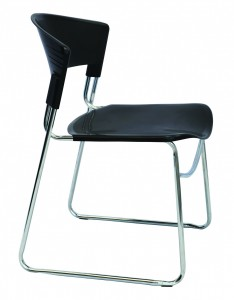 Zola Sled Base Visitor Chair. Black Seat And Back Only