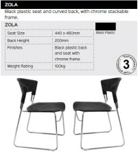 Zola Chair Range And Specifications