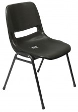 P100 Plastic Shell Lunchroom Chair. Black Only