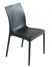 Iris Side Chair C608. Stackable. Black, Blue, Chocolate, Lime, Orange, Red, Tortora, White