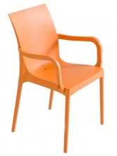 Iris Arm Chair C609. Stackable. Black, Blue, Chocolate, Lime, Orange, Red, Tortora, White