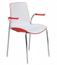 Now Bi Colour 4 Point Visitor Chair. Fixed Arms. 3 Colours