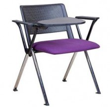 Revolution 4 Point Chair With Tablet Arm. Fabric Seat And Back Pads. Any Fabric Colour