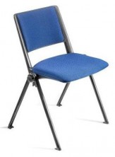 Revoultion 4 Point Visitor Chair. Black Frame. Fabric Seat And Back Pads Any Fabric Colour