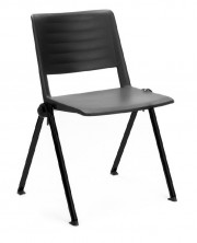 Reload 4 Leg Visitor Chair. Plastic Seat And Back. Black, Red, White, Green, Blue