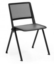 Reload Mesh Back 4 Leg Chair. Black Mesh Back With PP Seat. Black, Red, White, Green, Blue