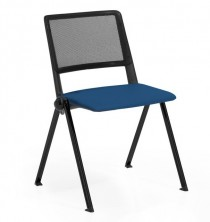 Reload Mesh Back 4 Leg Chair. Fabric Seat Pad. Any Fabric Colour