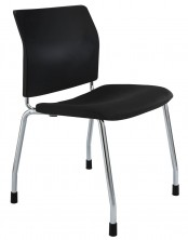 CS One Chair. Chrome 4   Legs. Fabric Seat Pad. Any Fabric Colour
