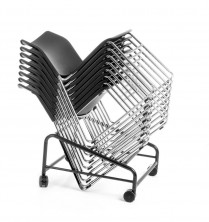 CS One Sled Base Chairs Are Stackable And Has Trolley Available