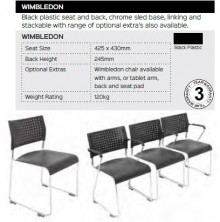 Wimbledon Chair Range And Specifications