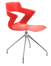 Zen 4 Point Chair. Chrome Fixed Base Can Be Fitted To Any Colour Shell
