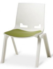 Euro 4 Leg Visitor Chair. White. 120 Kg. Option To Add Seat Pad