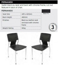 Fernando Chair Range And Specifications