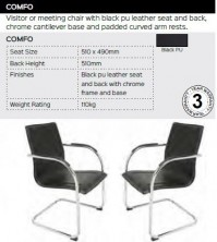 Comfo Chair Range And Specifications