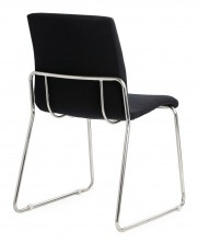 Design Sled Base Visitor Chair. Chrome Frame. Any Fabric Colour