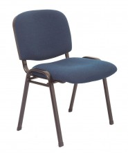 Nova Visitor Chair. Black Frame. Navy, Black, Charcoal Fabric Only