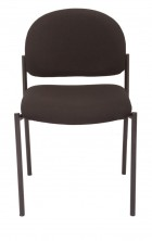 V100 4 Leg Visitor Chair. Stackable. Black Fabric Only