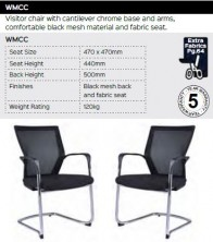 WMCC Visitor Chair Range And Specifications