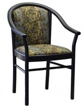 Manuela Arm Chair C043. Stained Frame. Any Fabric Colour