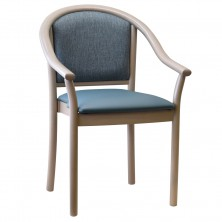 Manuela Three Quarter Back C093. Stackable Arm Chair. Beech Frame. Any Fabric Colour