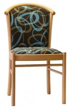 Manuela Side Chair C170. No Arms. Beech Timber Leg. Any Fabric Colour