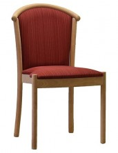 Manuela SIde Chair C116. No Arms. Stackable. Beech Timber Legs. Any Fabric Colour
