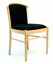 Manuela Sturdy Side Chair. No Arms. Slightly Wider. Beech Natural. Any Fabric Colour