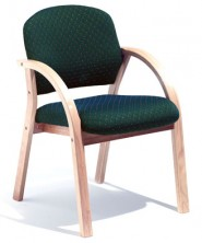 Oria Half Back Curved Arm. Clear Natural Finish. Any Fabric Colour