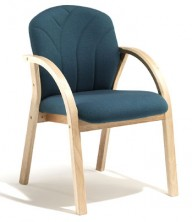 Oria Full Back Curved Arms. Clear Natural Finish. Any Fabric Colour