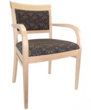 Rimini Arm Chair C542. Clear Natural Finish. Any Fabric Colour