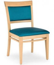 Rimini Low Side Chair C656. Clear Natural Finish. Any Fabric Colour