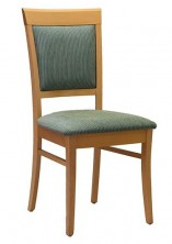 Rimini SP Side Chair C411. Stained Timber. Any Fabric Colour